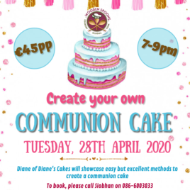 Create your own Communion Cake (28th April 2020)